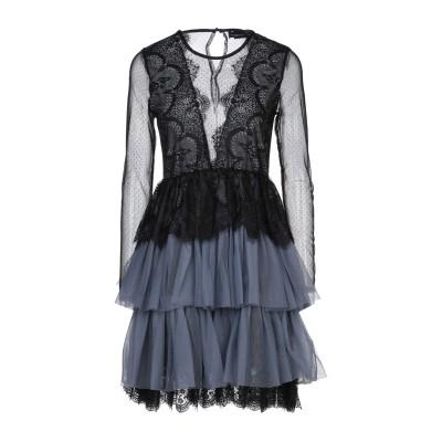 VANESSA SCOTT ミニワンピース&ドレス ブラック S ポリイミド 100% ミニワンピース&ドレス