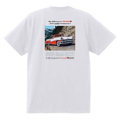 アドバタイジング マーキュリーTシャツ 白 1231 黒地へ変更可 1956 ターンパイク モナーク コロニーパーク メテオ モントクレア レトロ