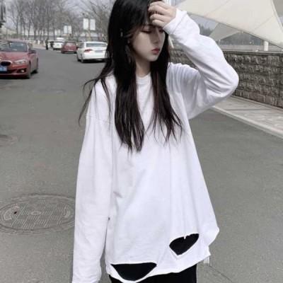 ロングtシャツ レディース 長袖 大きいサイズ スポーツ おしゃれ ロンt レディース シャツ 大きいサイズ レディース tシャツ ホワイト トレ定 かわ大