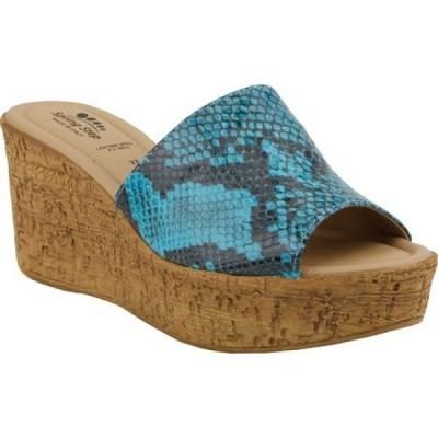スプリングステップ Spring Step レディース サンダル・ミュール ウェッジソール シューズ・靴 Mercury Wedge Slide Turquoise Synthetic