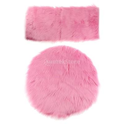 暖かい エリアラグ ふわふわ 床用 カーペット マット チェア シートクッション 豪華 クリスマス ギフト 2枚 多セット - セット3
