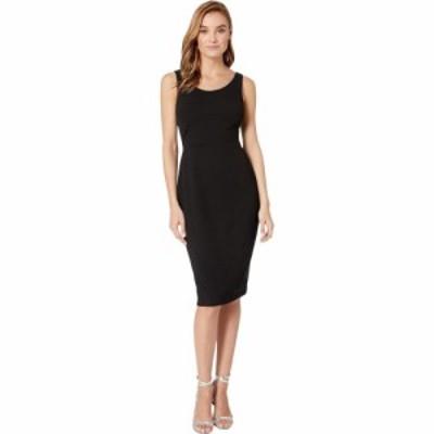 ベッツィ ジョンソン Betsey Johnson レディース ワンピース ミドル丈 ワンピース・ドレス Scuba Crepe Midi Dress Black