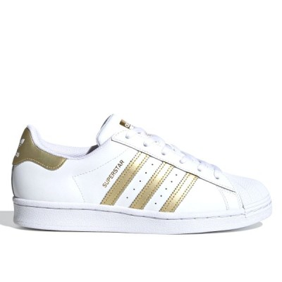 adidas SUPERSTAR W アディダス スーパースター ウィメンズ FTWR WHITE/GOLD METALLIC/FTWR WHITE fx7483