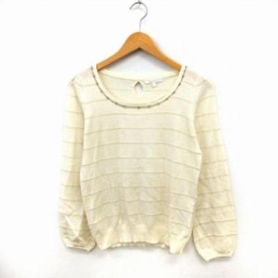 【中古】プロポーション ボディドレッシング PROPORTION BODY DRESSING ニット セーター プルオーバー  3 アイボリー