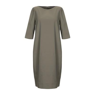 レ コパン LES COPAINS ミニワンピース&ドレス ミリタリーグリーン 44 コットン 63% / ナイロン 31% / ポリウレタン 6%