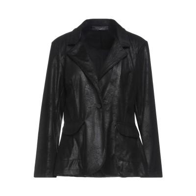 SANDRO FERRONE テーラードジャケット ブラック L ポリエステル 90% / ポリウレタン 10% テーラードジャケット