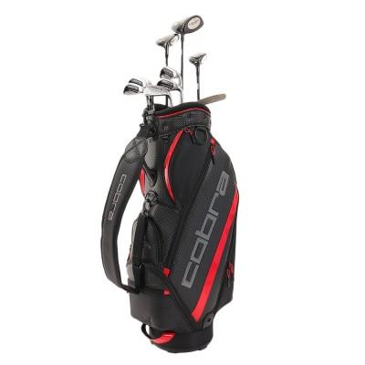 コブラゴルフクラブ初心者 ゴルフクラブセット FMAX SUPERLITE 10本セット キャディバッグ付 アイアンカーボンシャフト フレックスR スーパー