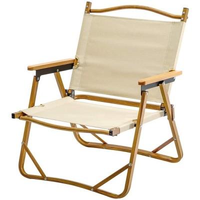 TOMOUNT アウトドアローチェア キャンプチェア 折りたたみ 椅子 耐荷重 120kg コンパクト ビーチ 庭園 アウトドア キャンプ (ベージュ