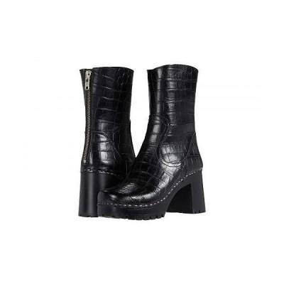Swedish Hasbeens スウェディッシュハズビーンズ レディース 女性用 シューズ 靴 ブーツ ミッドカフ 90s Boot - Black Croc/Black