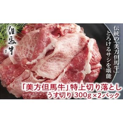 【美方但馬牛】特上切り落し300g×2パック(すき焼・炒め・煮込み用)