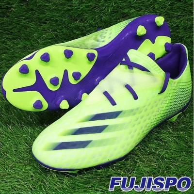 エックス ゴースト.2 HG/AG アディダス(adidas) サッカースパイク シグナルグリーン×エナジーインク×セミソーラースライム (FW9570)【ad2011】