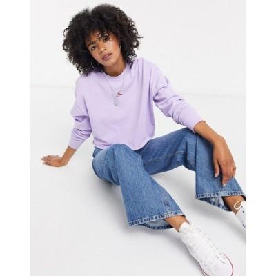 トップショップ レディース パーカー・スウェットシャツ アウター Topshop chilli pepper sweatshirt in purple Purple