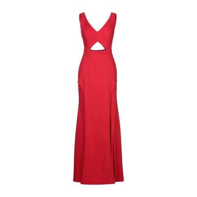 MAESTRI ロングワンピース&ドレス レッド 8 ポリエステル 100% ロングワンピース&ドレス