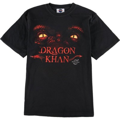 UNIVERSAL PORT AVENTURA DRAGON KHAN Tシャツ L /eaa034789
