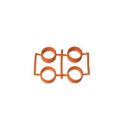 【ネコポス対応】イーグル(EAGLE)/MINI4-RT02-OR/SP中径レーシングタイヤ内径20.5mm2.0mm厚:ミニ4(オレンジ)