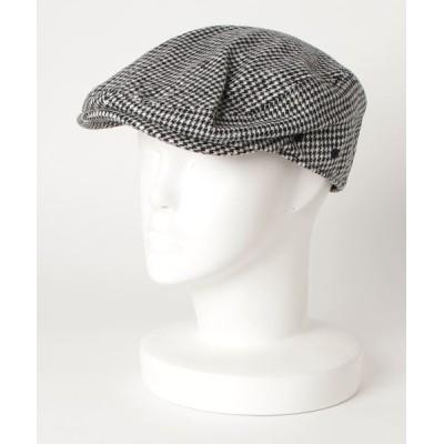 FUNALIVE / ハウンドトゥースハンチング帽 MEN 帽子 > ハンチング/ベレー帽