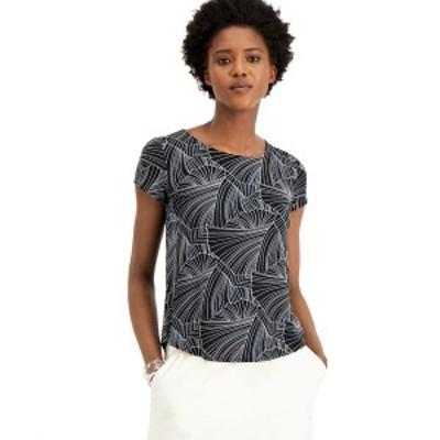 アルファニ レディース Tシャツ トップス Plus Size Printed T-Shirt, Created for Macy's Black Soft Scaffold