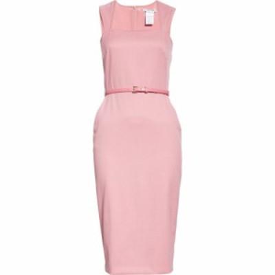 マックスマーラ MAX MARA レディース ワンピース ワンピース・ドレス Cabala Belted Wool Sheath Dress Pink