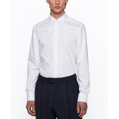 ヒューゴボス シャツ トップス メンズ BOSS Men's Easy-Iron Slim-Fit Shirt White