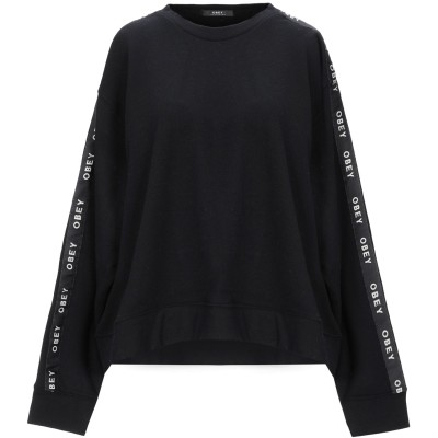 オベイ OBEY スウェットシャツ ブラック S コットン 84% / ポリエステル 16% スウェットシャツ