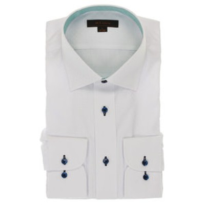 形態安定抗菌防臭レギュラーフィット ワイドカラー長袖シャツ