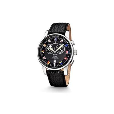 【日本未発売】Kronsegler(クロンセグラー) Triton Fishermens Watch Tidewatch steel-black Sp