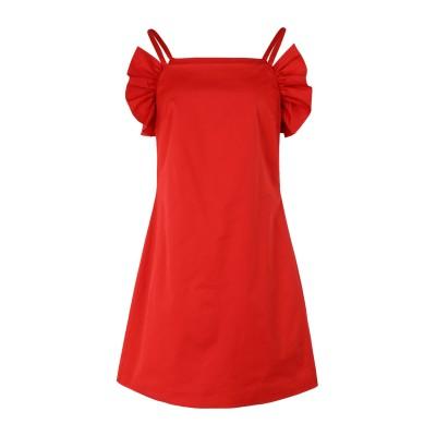 STAUD ミニワンピース&ドレス レッド XS コットン 95% / ポリウレタン 5% ミニワンピース&ドレス