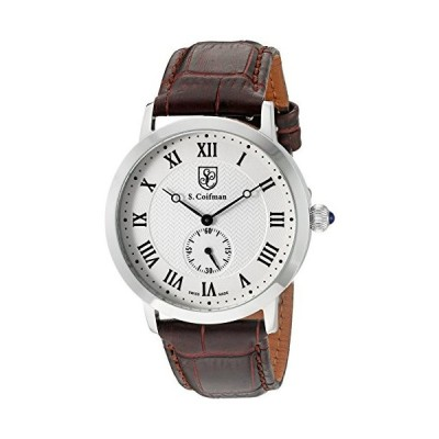 S. Coifman 'Men's' Swiss Quartz Stainless Steel and Leather Watch, Color:Brown (Model: SC0360) 並行輸入品