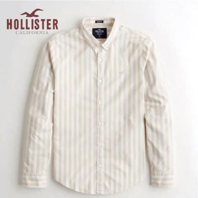 ホリスター メンズ 長袖  HOLLISTER 新作 ストレッチ ボタンダウンシャツ 〇