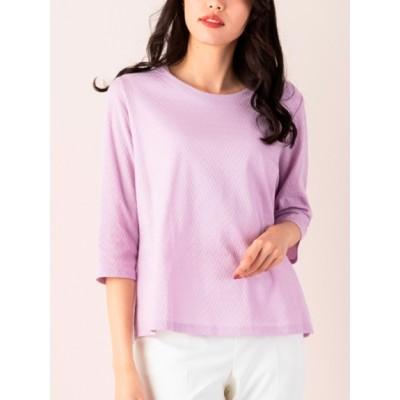 MISSEL[大きいサイズ] (ミゼール) レディース リンクスジャガードTシャツ ピンク LL