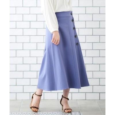 le.coeur blanc / ルクールブラン サイドボタンツイルフレアースカート