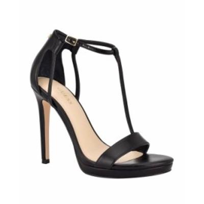 ゲス レディース サンダル シューズ Women's Tecru T-Strap Dress Sandals Black
