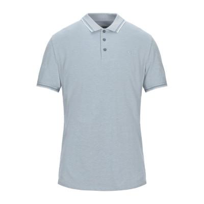 GARCIA ポロシャツ パステルブルー S コットン 100% ポロシャツ