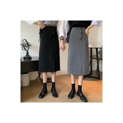 【送料無料】秋服 年 女 韓国風 ハイウエスト 着やせ 着やせ ヒップカバースカート | 364331_A63600-4657494