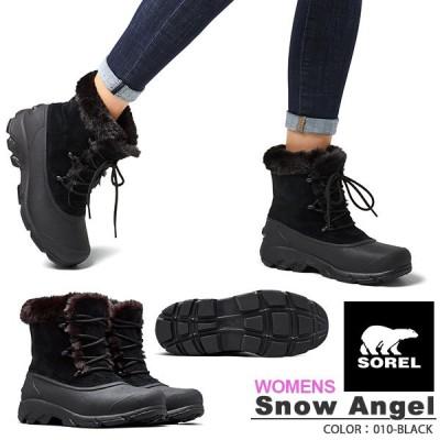 ウィンターブーツ SOREL ソレル Snow Angel スノーエンジェル レディース スノーブーツ シューズ ブラック 防寒 ショートブーツ nl3482