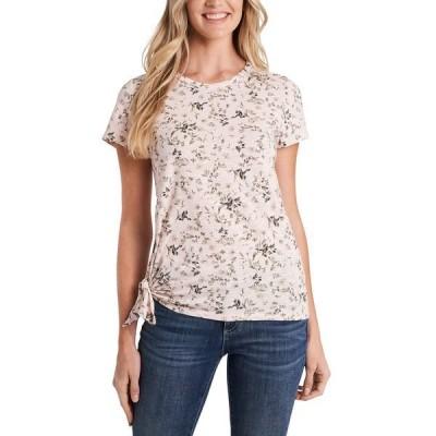 セセ Tシャツ トップス レディース Wildflower Meadow Tie-Hem T-Shirt Kitten Pink