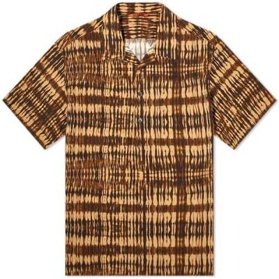 バレナ Barena メンズ 半袖シャツ トップス Mola Tie-Dye Vacation Shirt Brown