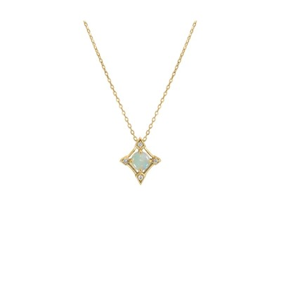 【スタージュエリー/STAR JEWELRY】 DIAMOND & OPAL NECKLACE