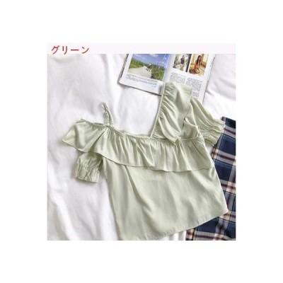 【送料無料】小 心 機 ベスト 肩なし フリル トップス 女 夏 韓国風 デザイン | 346770_A62637-6757723