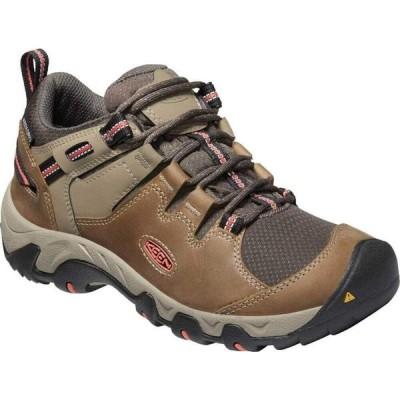 キーン KEEN レディース ハイキング・登山 ブーツ シューズ・靴 Keen Steens Waterproof Hiking Boot Timberwolf/Coral