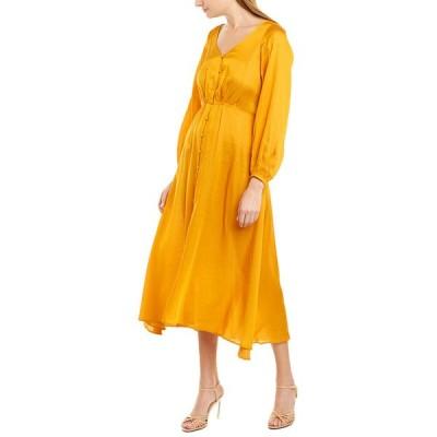 フリーピープル ワンピース トップス レディース Free People Later Days Midi Dress orange