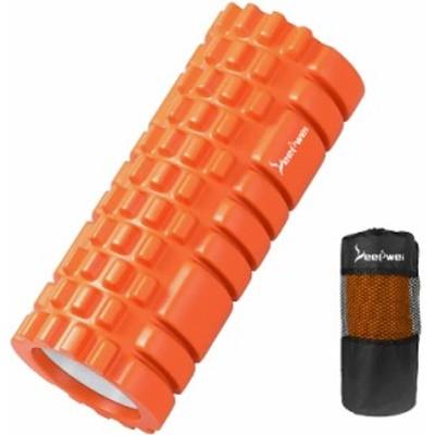 LEEPWEI フォームローラー 筋膜リリース グリッドフォームローラー ヨガポール トレーニング スポーツ フィットネス ストレッチ・
