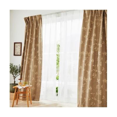 軽くておしゃれ!1級遮光・遮熱・防音カーテン&レースセット(モダンリーフ) カーテン&レースセット, Curtains, sheer curtains, net curtains(ニッセン、nissen)