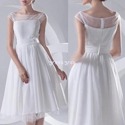 パーティードレス レディース フレンチスリーブ Aライン フレアスカート チュール 花 白 ホワイト 大きいサイズ ポイント消化
