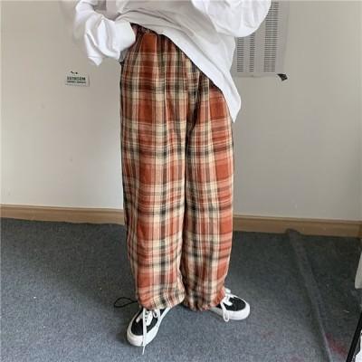 チェック 裾絞り パンツ 2カラー