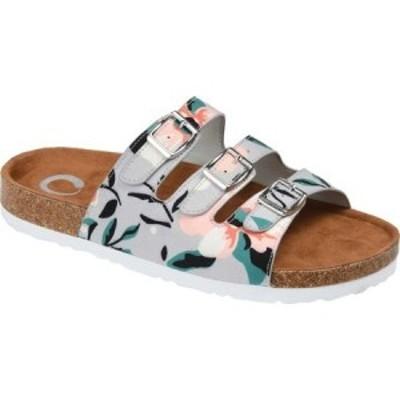 ジュルネ コレクション Journee Collection レディース サンダル・ミュール シューズ・靴 Desta Slide Floral Faux Leather