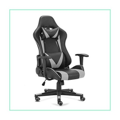 OGEFER PC Gaming Chair Computer Chair Racing Style Ergonomic with Headrest Pillow Lumbar Support Armrest Home Office Swivel Chair Rocking Function 180