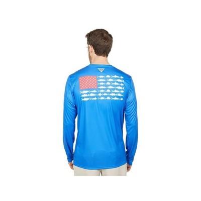 コロンビア Terminal Tackle PFG Fish Long Sleeve Shirt メンズ シャツ トップス Vivid Blue/White 2