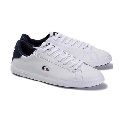 ラコステ(LACOSTE) メンズ スニーカー GRADUATE TRI 1 ホワイト/ネイビー/レッド SMA0027 407 タウンユース ローカット 靴 シューズ