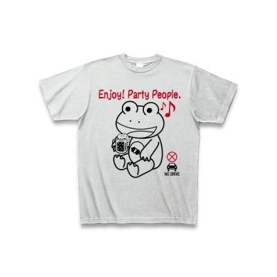 「エンジョイ! パーティーピープル」のカエル Tシャツ(アッシュ)